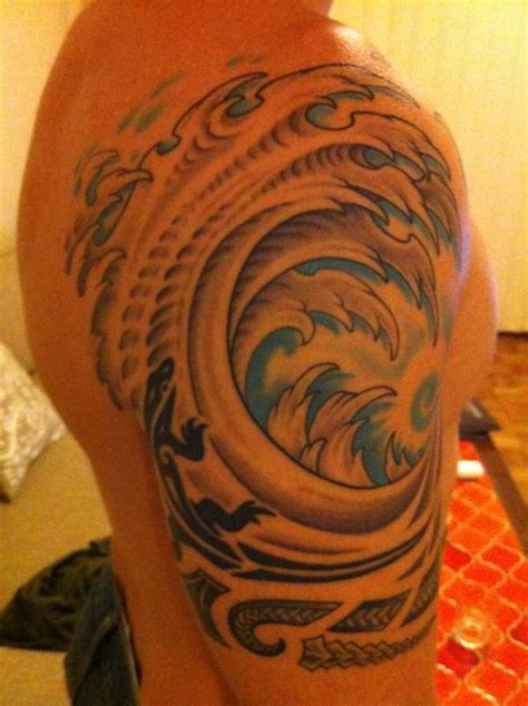 tribal wave tattoo tattoo collections