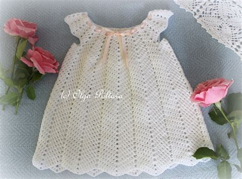 pattern crochet clothes lacy crochet white ripple baby dress size 12 18 months