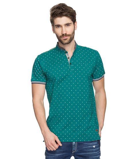 Printed Shirt 2 spykar green printed mandarin collar t shirt buy spykar green printed mandarin collar t shirt