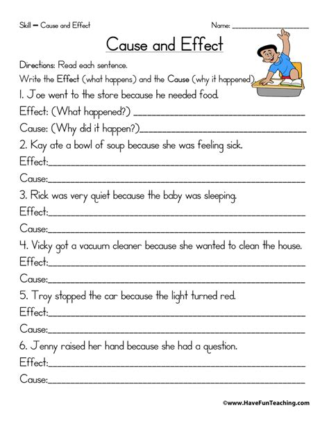Cause And Effect Worksheets 2nd Grade by Cause And Effect Worksheets Teaching