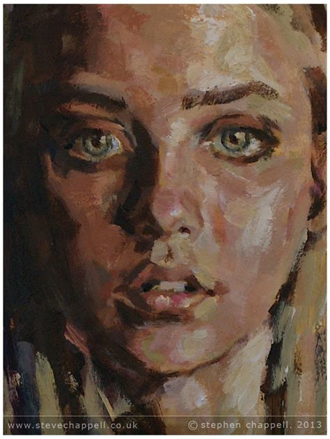 acrylic paint portrait stephen chappell paintings 187 painting with veil