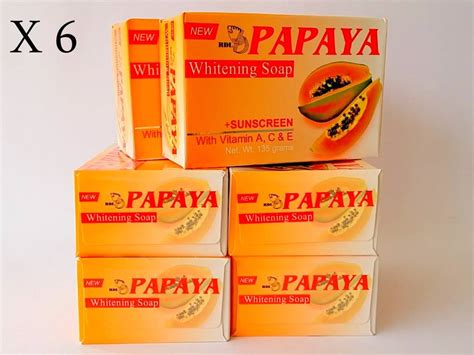 Rdl Papaya rdl papaya whitening soap with vitamin a c e sunscreen or