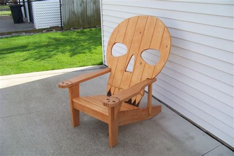 Skull Adirondack Chair Plans by Skull Chair By Mikede Lumberjocks Woodworking