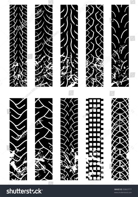 tire pattern brush motorcycle tyre tracks stock vector 35863777 shutterstock