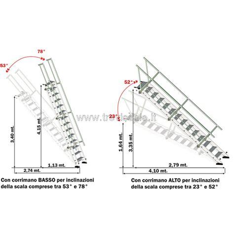 altezza corrimano scale scale industriali ad altezza ed inclinazione variabile per