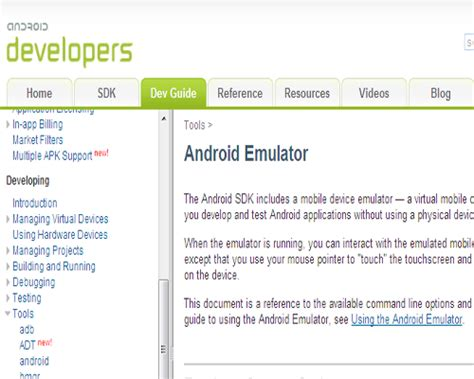 android sdk emulator list of top 10 mobile web and app development testing and emulation tools webgranth
