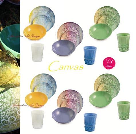 villa d este bicchieri villa d este servizio di piatti canvas 18 pz 6 bicchieri