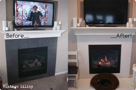painted fireplace tiles lightly sand tiles then