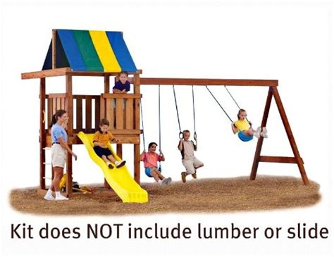 swing n slide swing set wood swing set swing n slide ne5056 wrangler playground kit