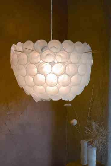 plastic cup chandelier