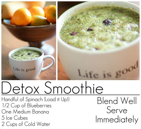 Fit Detox Recipes by Detox Smoothie Recipe Blueberry Spinach Banana Get Fit