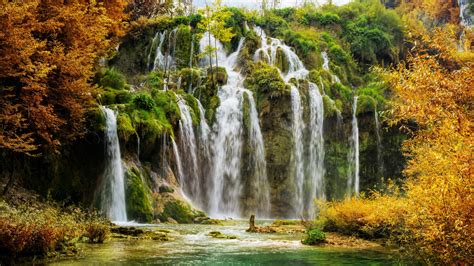 wallpaper waterfalls plitvice lakes national park