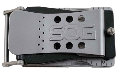 multi tool without blade sog belt buckle hides blade fold open multitool