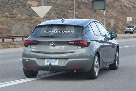 opel america opel astra spotted testing on american roads carscoops