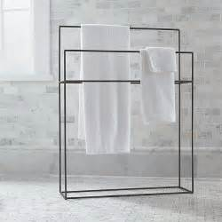 standing towel bar jackson standing towel rack crate and barrel