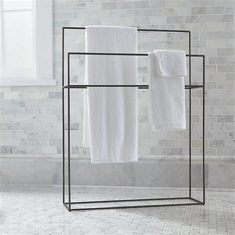 jackson gunmetal standing towel rack in bath storage