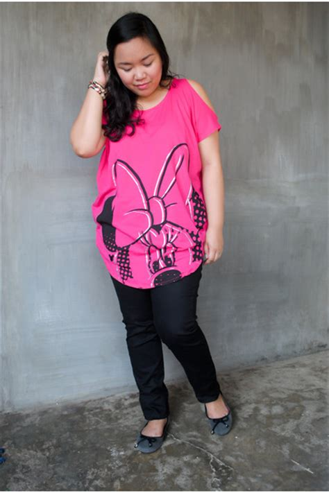 Next 7j Casual Minnie Pink Set Pant pink giordano shirts black jeggings giordano quot minnie quot by katmarcu chictopia