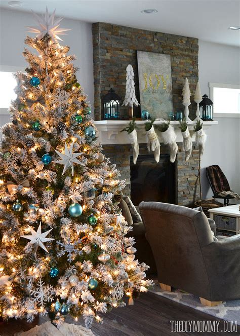 home christmas tree decorations hometalk a teal green vintage inspired christmas home tour