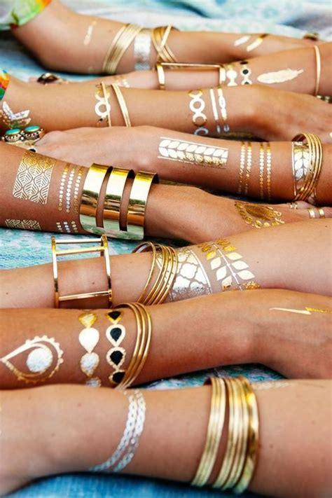 gold silver metallic jewelry flash tattoos tats tat jewelry tattoos for ladies nationtrendz com