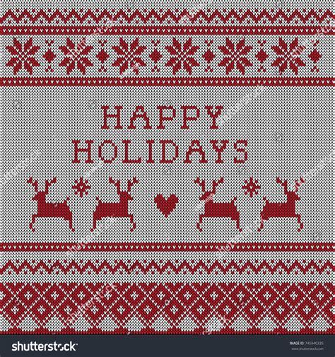 knitting pattern ugly christmas sweater knitted ugly christmas sweater vector pattern stock vector