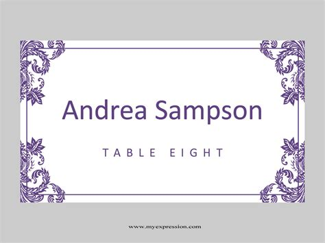 folding place card template wedding place cards template folded purple damask