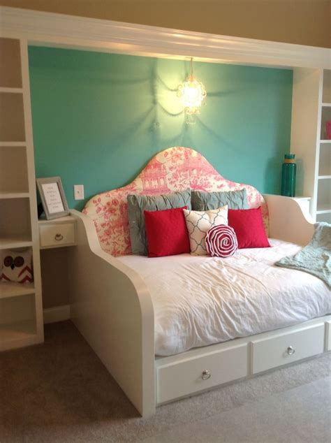 queen day bed brittany s bedroom built in queen daybed with side tables