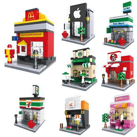 Lego Hsanhe Mini 6407 hsanhe mini retail store model miniature building block scence architecture model
