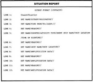 Situation Report Template Spotrep Example Related Keywords Amp Suggestions Spotrep