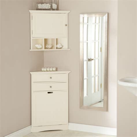 cabinet space corner linen cabinet for space saving bathroom idea