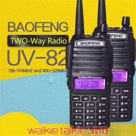 Walkie Talky Ht Handy Talkie Baofeng Uv82 Radio Komunikasi Terbaru baofeng uv 82 ptt 8w radio walkie talkie hub