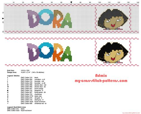 pattern explorer download cross stitch border with dora the explorer height 30