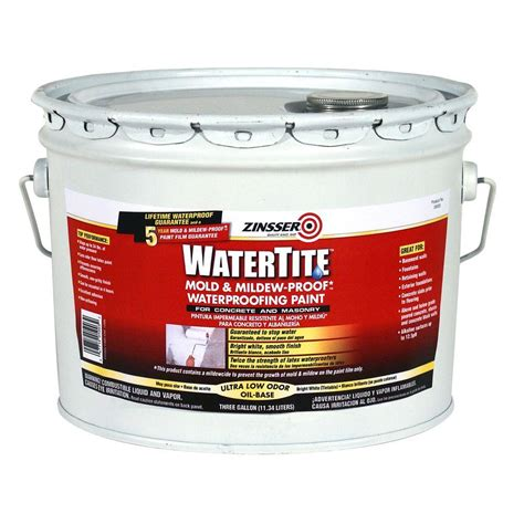 zinsser 3 gal watertite mold and mildew proof white oil