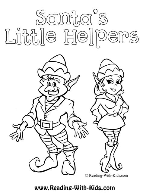 elves workshop coloring pages christmas