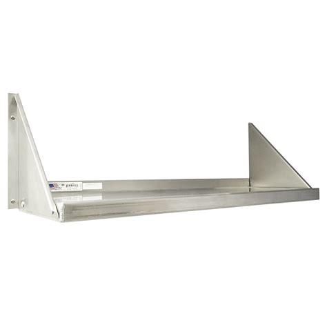18 quot d heavy duty aluminum wall shelves