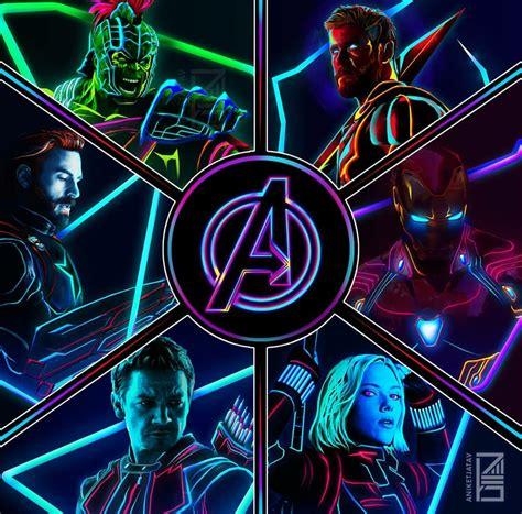 neon avengers original lineup ataniketjatav marvelstudios