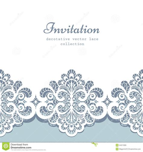 lace border template stock vector image 54511826