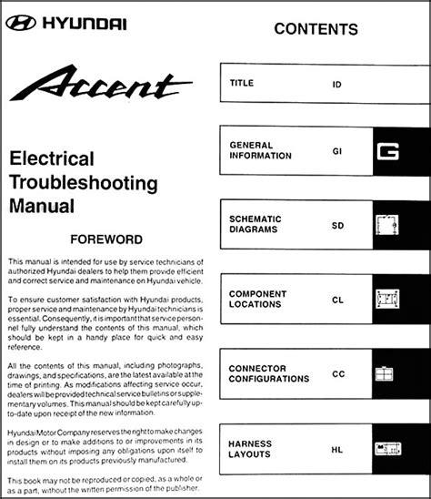 hyundai accent 2001 manual 2001 hyundai accent wiring diagram efcaviation