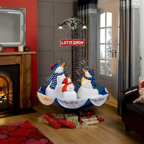 snowing snowmen christmas decoration