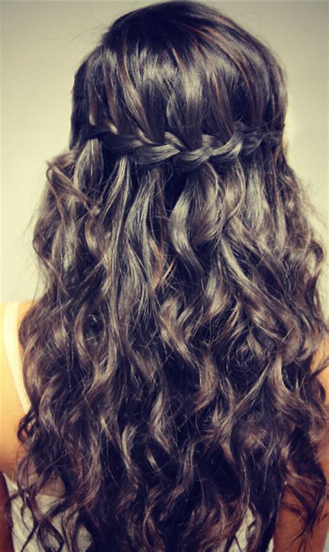 hairstyles for curly hair plaits easy wavy waterfall braid for girls hairstyles weekly