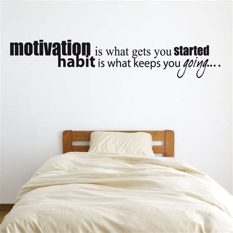 wall sticker quotes uk motivation habit wall sticker quote wall chimp uk