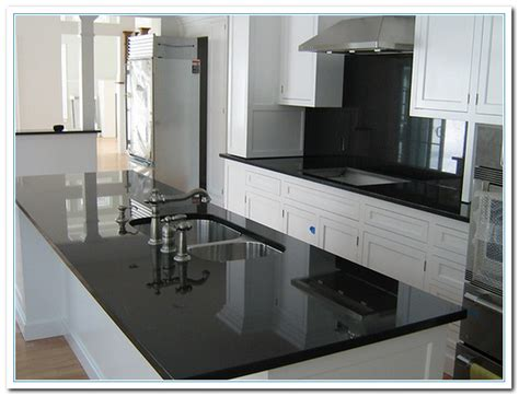 Black Granite Kitchen Countertops White Cabinets With Granite Countertops Home And Cabinet Reviews