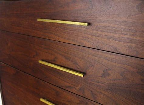 Modern Drawer Pull by Mid Century Modern Walnut High Chest Dresser W