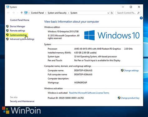 membuat dvd recovery windows 10 cara membuat restore point secara instan dengan shortcut