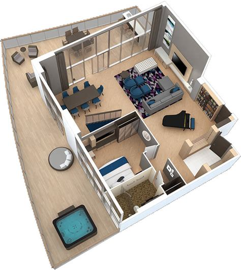 royal caribbean floor plan royal suites star class