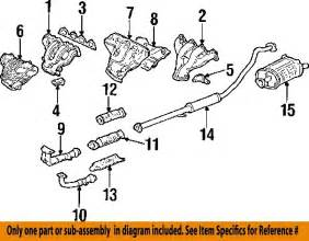 Honda Crv Exhaust System Diagram 2000 Honda Crv Exhaust Diagram Auto Parts Diagrams