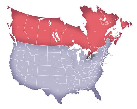 usa map with canada map of canada us border marinatower org