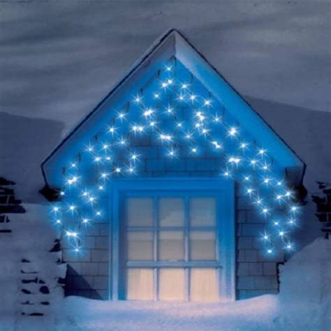 snowtime 240 led blue multi function icicle lights by