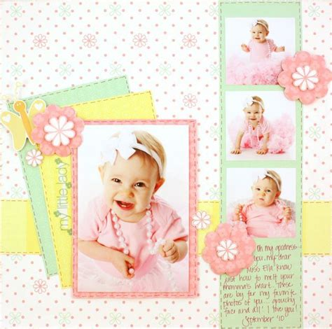 scrapbook layout baby girl fabulous baby girl arrival little lady layout from