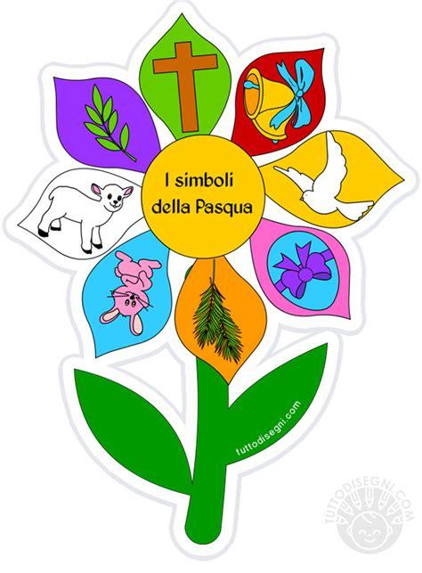 fiore simbolo fiore con simboli pasquali da stare tuttodisegni