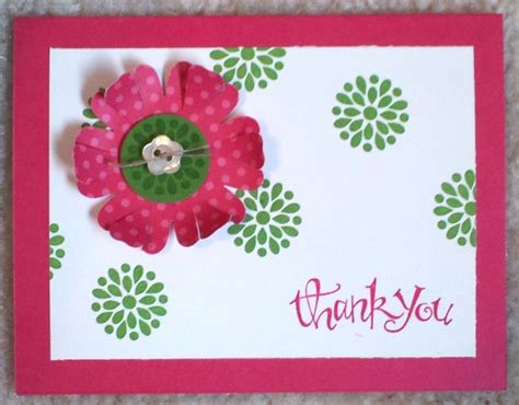 Handmade Thankyou Cards - handmade thank you card in flower nationtrendz